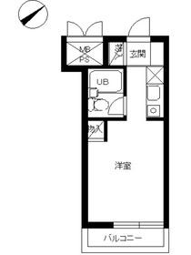 スカイコート戸塚2階Fの間取り画像