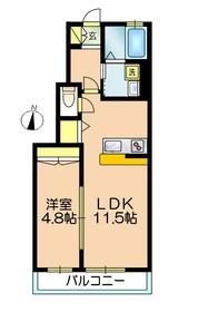 カーサ フェリス1階Fの間取り画像