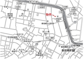 ウィンベル神楽坂案内図