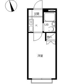 スカイピア西横浜2階Fの間取り画像