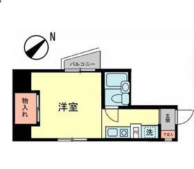生麦栗山ハイツ8階Fの間取り画像