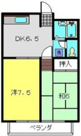 シャンス菊名152階Fの間取り画像