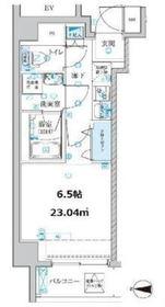 ベルシード横濱大口通4階Fの間取り画像