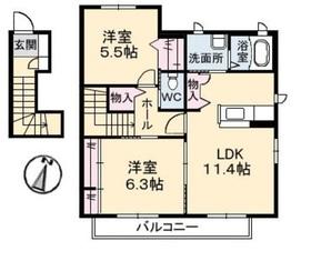メイフラワー C2階Fの間取り画像