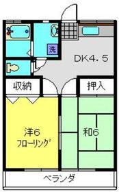 フラッツマキ2階Fの間取り画像