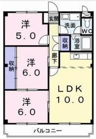 ハイム相武台3階Fの間取り画像