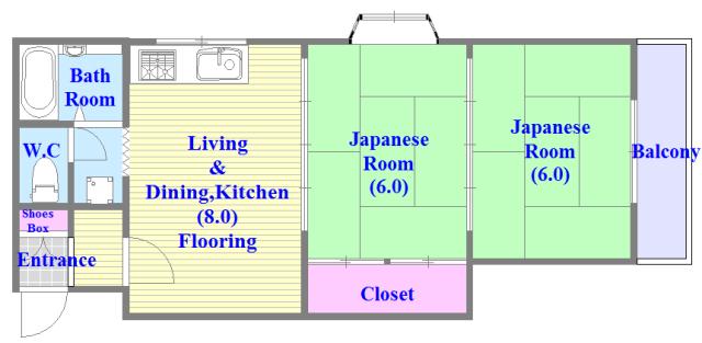 プレジデント楠 和室のあるゆったりした間取です。一度ご覧ください。