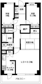 ガーデンシティ戸田5階Fの間取り画像