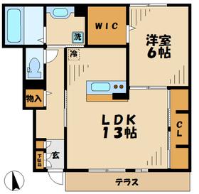 伊勢原駅 徒歩22分1階Fの間取り画像