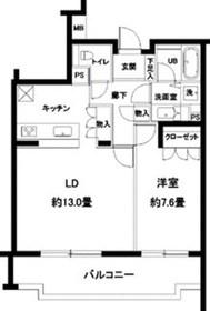 カスタリア参宮橋4階Fの間取り画像