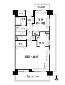 フレスコ川崎2階Fの間取り画像