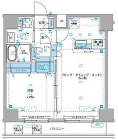 ジェノヴィア浅草Ⅲグリーンヴェール6階Fの間取り画像