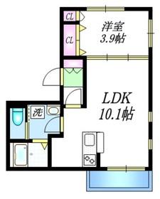 カーサ ミハス2階Fの間取り画像