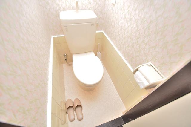 大同マンション 清潔感のある爽やかなトイレ。誰もがリラックスできる空間です。