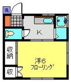 コーポ羽生2階Fの間取り画像