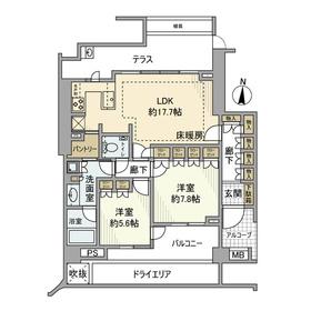 ディアナコート成城翠邸1階Fの間取り画像