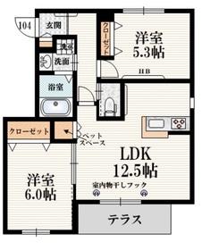 柿生駅 徒歩27分1階Fの間取り画像
