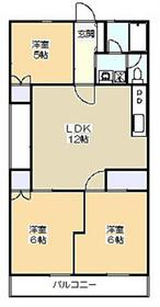 竹の郷マンション3階Fの間取り画像