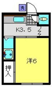 岡村荘(小野町)2階Fの間取り画像