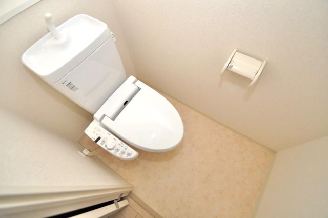 トリニティ東野 清潔感のある爽やかなトイレ。誰もがリラックスできる空間です。