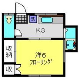恵荘1階Fの間取り画像