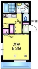 仮称 亀戸6丁目メゾン2階Fの間取り画像