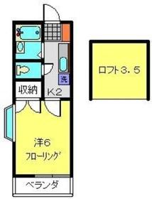 横浜駅 バス20分「羽沢南停」徒歩3分2階Fの間取り画像