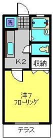 武蔵新城駅 徒歩3分1階Fの間取り画像