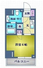 アヴァンツァーレ川崎EAST4階Fの間取り画像