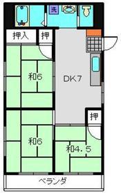武蔵小杉駅 徒歩33分2階Fの間取り画像