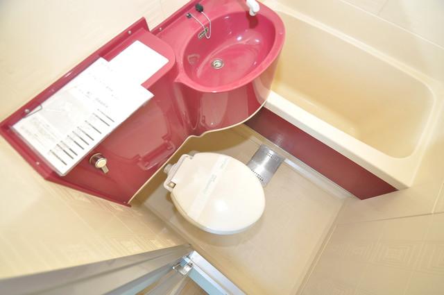 ロータリーマンション永和 お風呂・トイレが一緒なのでお部屋が広く使えますね。