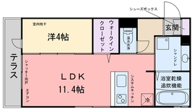 D-room九大駅前1階Fの間取り画像