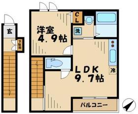 カサフェンテムート2階Fの間取り画像