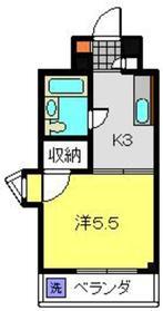 武蔵中原駅 徒歩19分2階Fの間取り画像