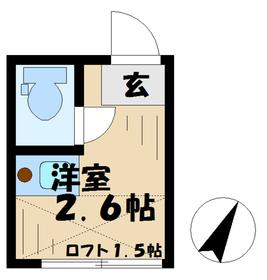 テラス永山2階Fの間取り画像