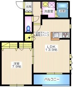 プリマヴェーラ鎌倉2階Fの間取り画像