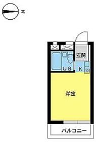スカイコート新宿2階Fの間取り画像