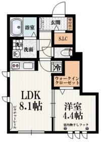 シェモア仙川壱番館1階Fの間取り画像