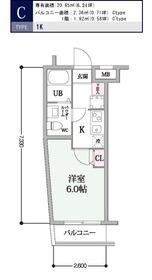 スカイコート戸越2階Fの間取り画像