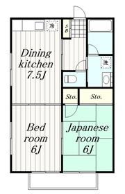 海老名駅 バス18分「東名綾瀬」徒歩2分2階Fの間取り画像
