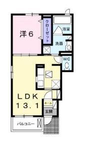 ハピネスⅡ1階Fの間取り画像