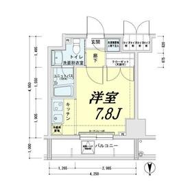 メインステージ錦糸町駅前Ⅱ2階Fの間取り画像
