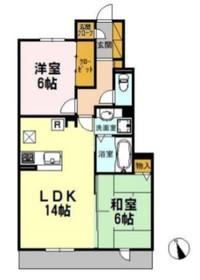 北野翠亭Ⅱ1階Fの間取り画像