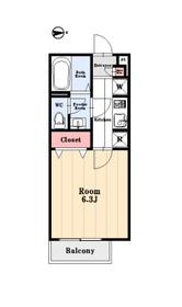 東向きの1K。独立洗面台、システムキッチン、ウォシュレット等設備も充実しております。