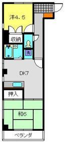 本田屋ビル3階Fの間取り画像