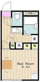本厚木駅 バス21分「荻野新宿」徒歩5分2階Fの間取り画像