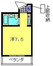 和田町駅 徒歩4分2階Fの間取り画像