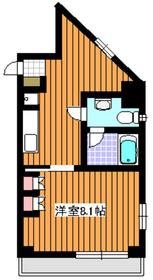 サンロイヤル成増ヶ丘9階Fの間取り画像