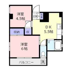 田中ビル3階Fの間取り画像