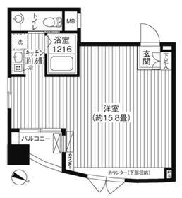 コート・フェリシア2階Fの間取り画像